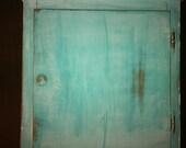 Shabby Chic Turquoise Medicine Cabinet