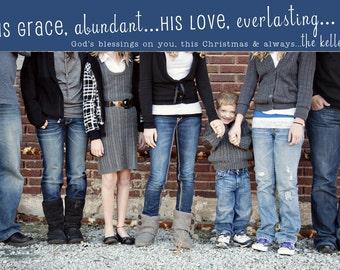 Grace Abundant Custom Christmas Photo Card