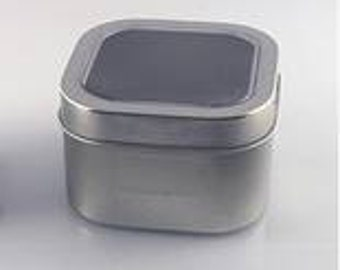 8 Ounce Square Candle Window Tin - 2 Pack