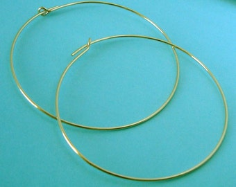 45mm beading hoop 14k gold filled large round earring ear wire earwire 10pcs E18g