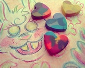 Upcycled/Recycled Heart Crayons