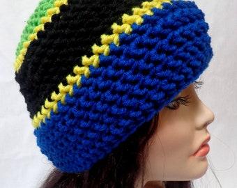 Tanzania Crochet Hat/ Beanie