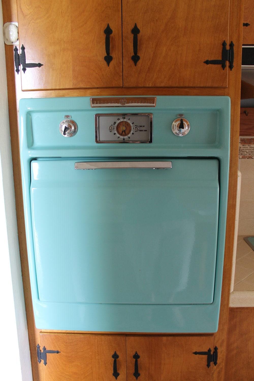 Vintage 1950s Ge Aqua Wall Oven And Counter Top Stove