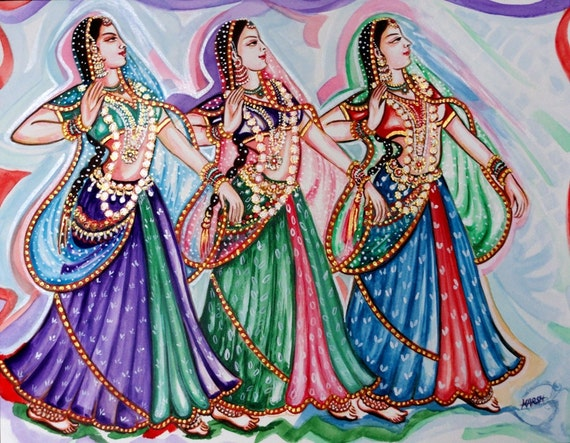 Dancers Kathak Dance Classical Indian Dance Water by ...