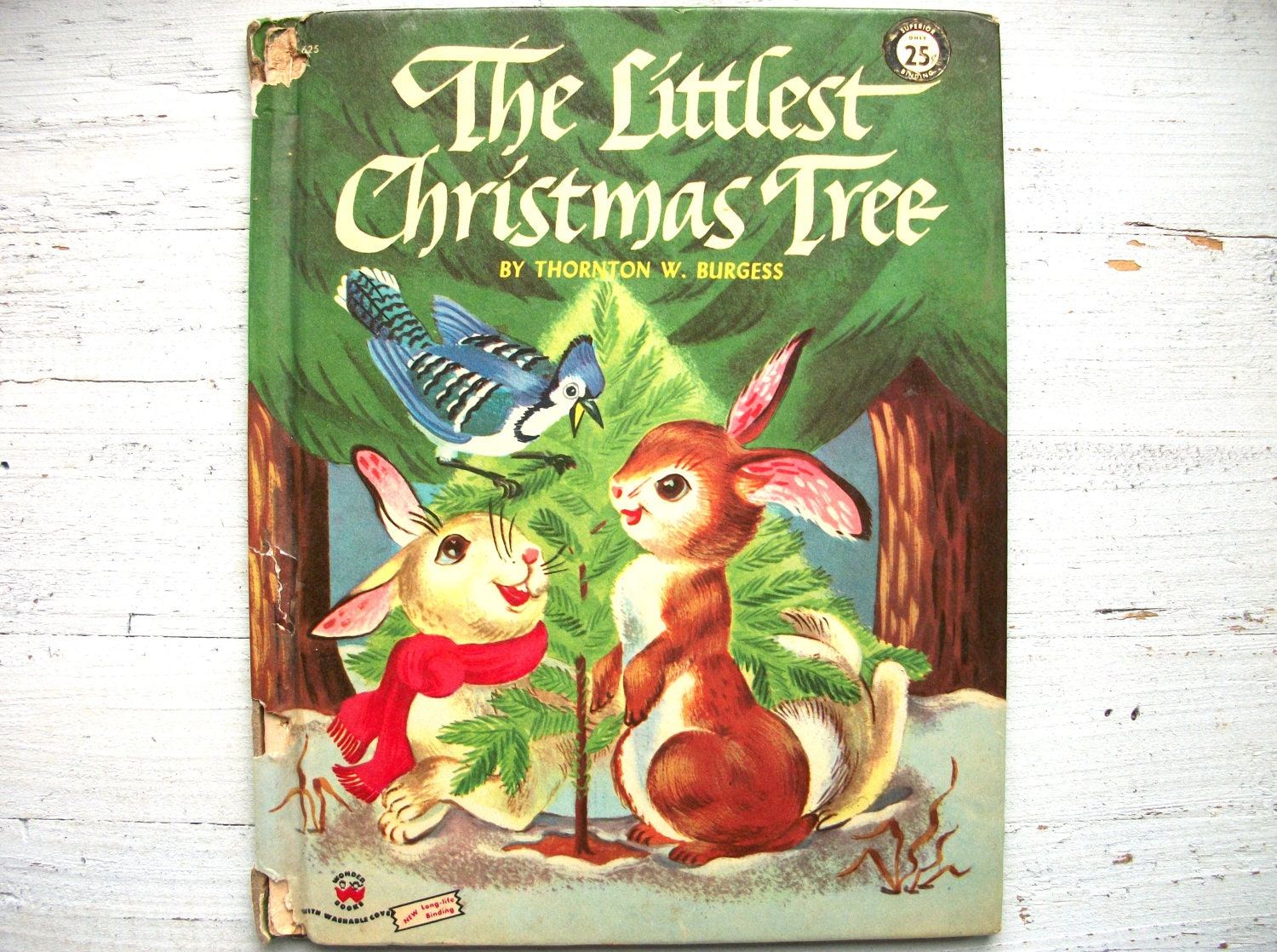 Vintage 1950's Children's Book The Littlest Christmas