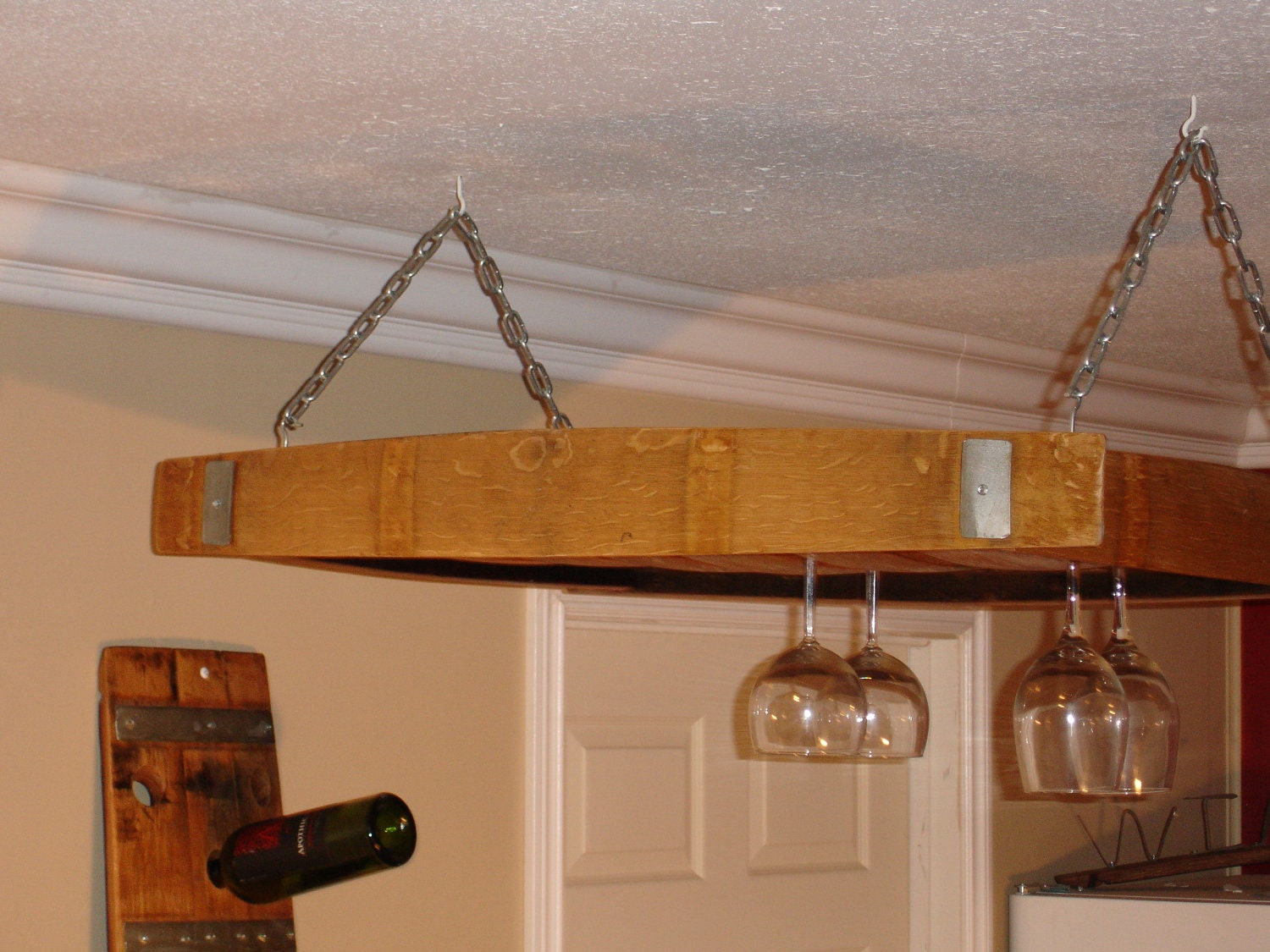Over Table Wine Glass Holder And Wine Storage By Wineyguys