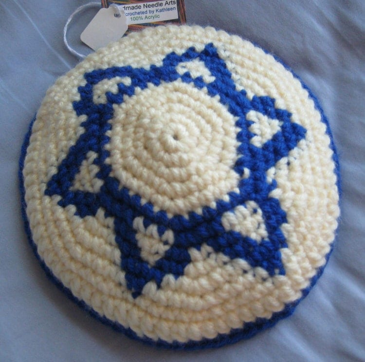 Crochet Patterns For Yarmulke : Star of David Yarmulke Crochet Pattern PDF by ...