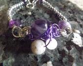 Amethyst, Labradorite and Rose Quartz Chaos Bracelet