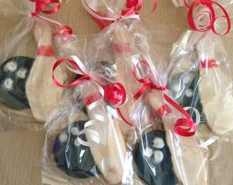 Bowling Pin and Ball Cookies - One Dozen Individually Wrapped