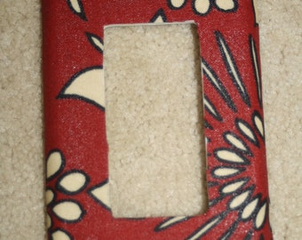 red fabric switchplate