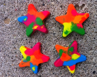 Neon Jumbo Star Crayons