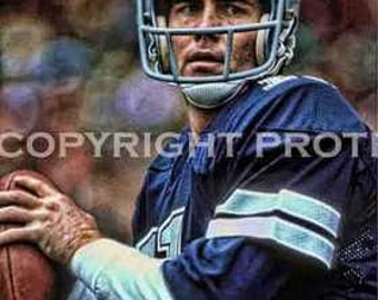 Rare Danny White Cowboys Art Illus Print 12x18 LE of 50