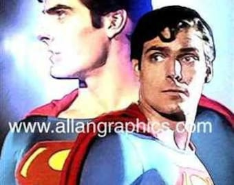 New Reeve Christopher Reeve Superman Art Print Rare