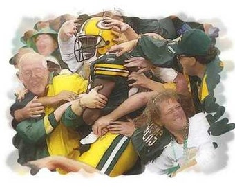 Great Lambeau Leap Green Bay Packers Art Lithograph