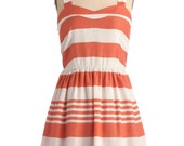 Retro Fit and Flare Stripe Medium Dress Vintage inspired
