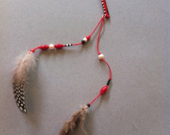 Red Feather Pin