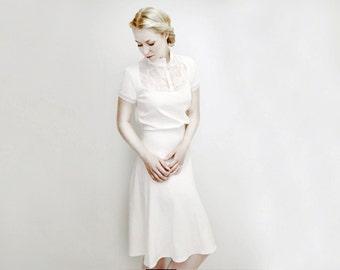 M.I.R.A cream jersey dress