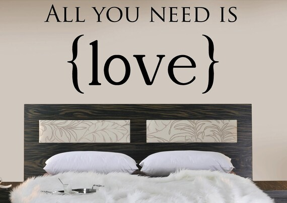 Wall Decor All You Need Is Love : All you need is love vinyl lettering words wall quotes