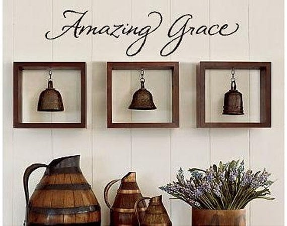 amazing grace vinyl lettering words wall quotes graphics home decor decal custom inspirational living room