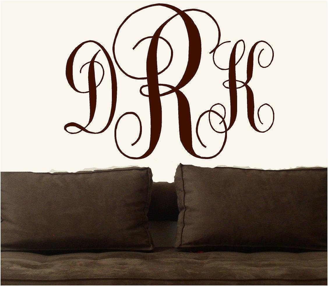 Personalized Monogram Letters Vinyl Lettering Words Wall