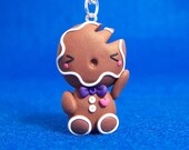 Chibi Gingerbread Man Necklace for Amanda