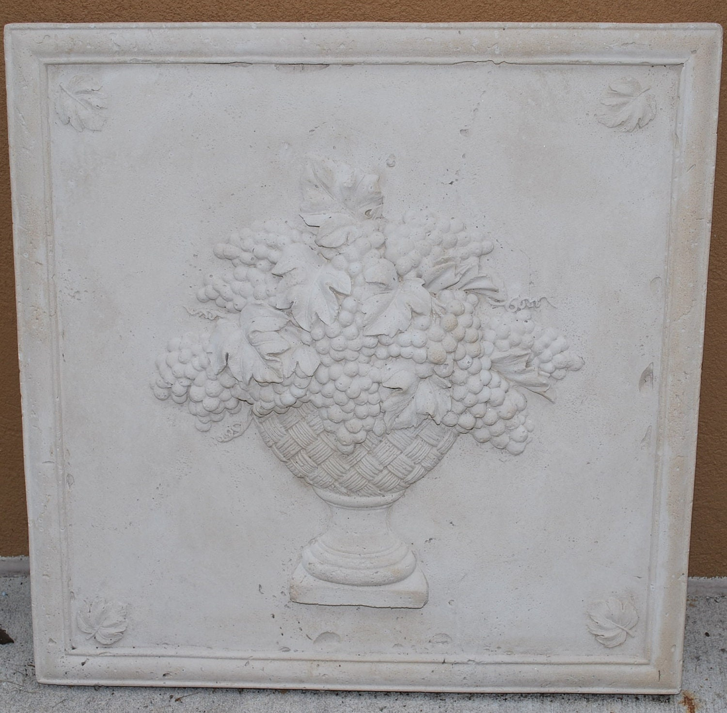 Kitchen Wall Plaques: Cast Stone Plaque Kitchen Wall Decor Wine Cellar Outdoor