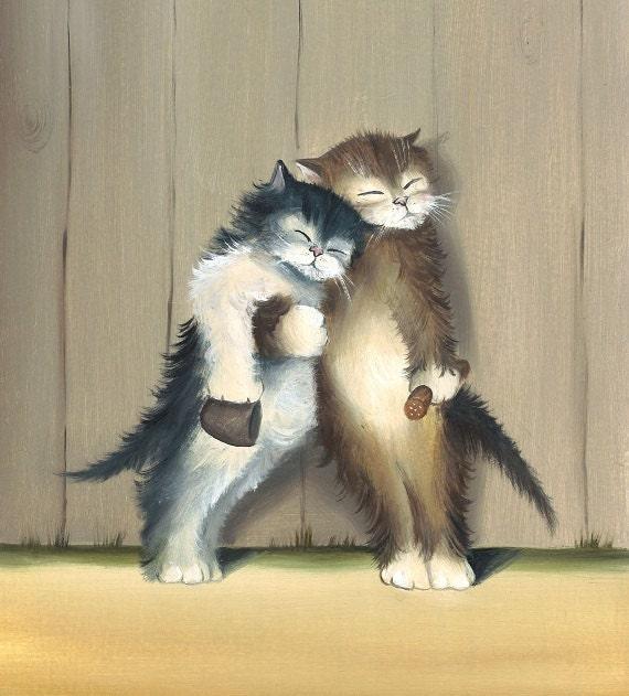 Cat Art, Print From Original