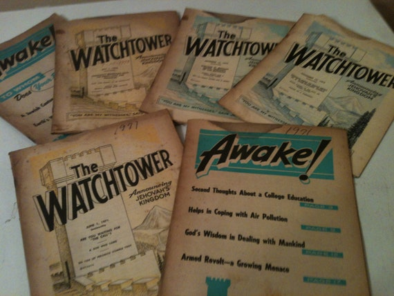 Items similar to Vintage Jehovah Witness Awake and Watchtower ...