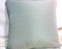 Pillow Covers - Designer Fabric Pillow Cover - Pillows - pillow covers - 18x18 - Smoked Aqua silk blend