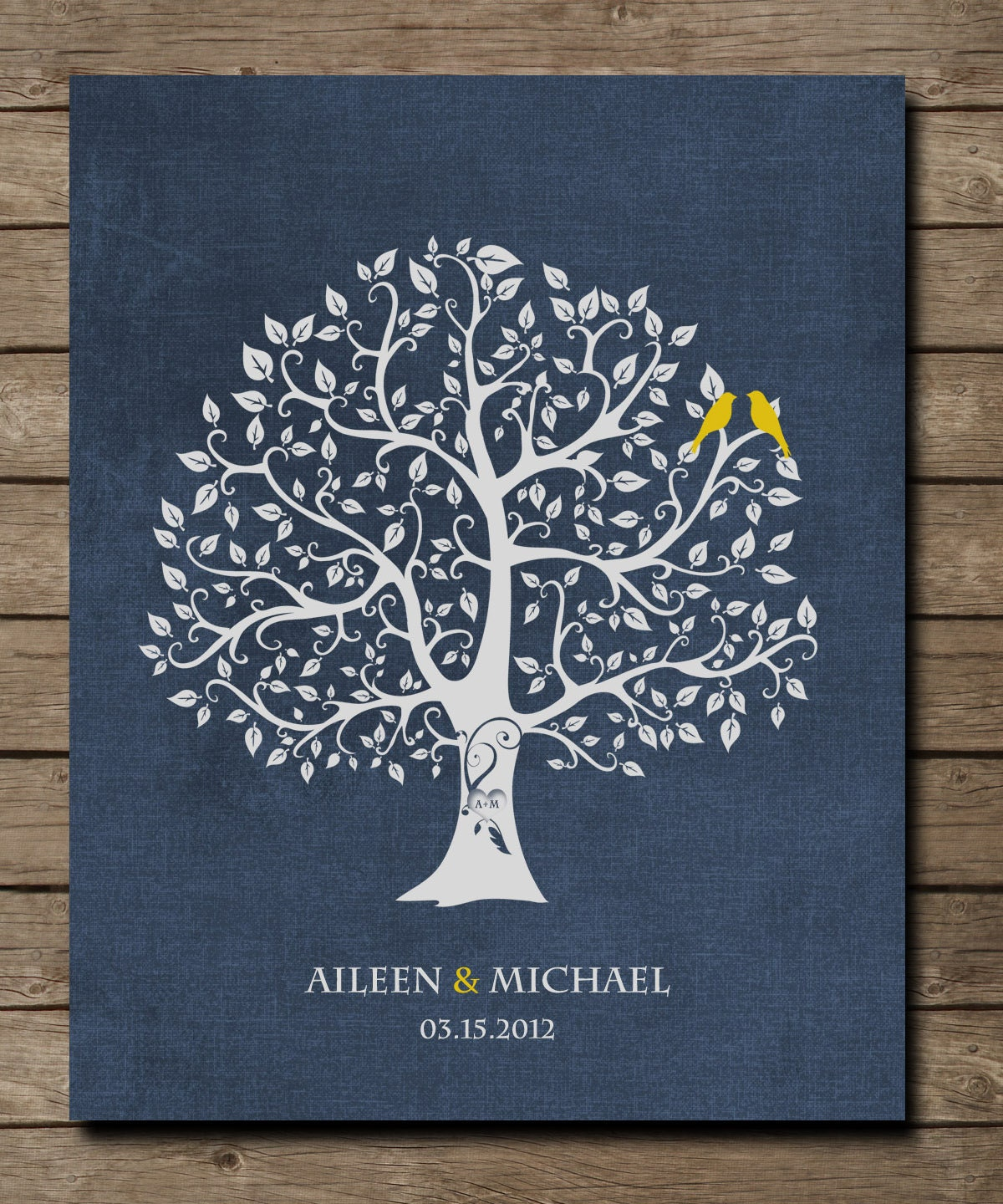 Custom Wedding Art Poster: Custom Wedding Accessories: Personalized Wedding Gift For