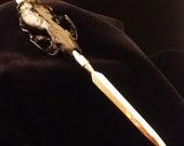 Halloween Letter Opener Skunk Skull
