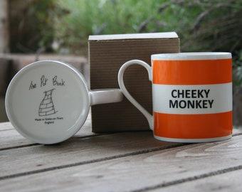 Cheeky Monkey Hoop Mug
