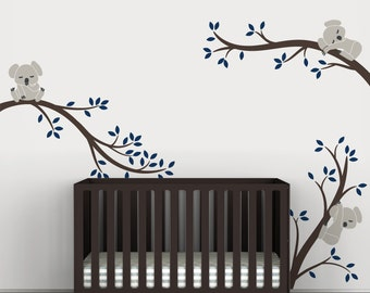 Kids Wall Decals Baby Nursery Sticker Wall Tree decal - Koala Tree Branches by LittleLion Studio