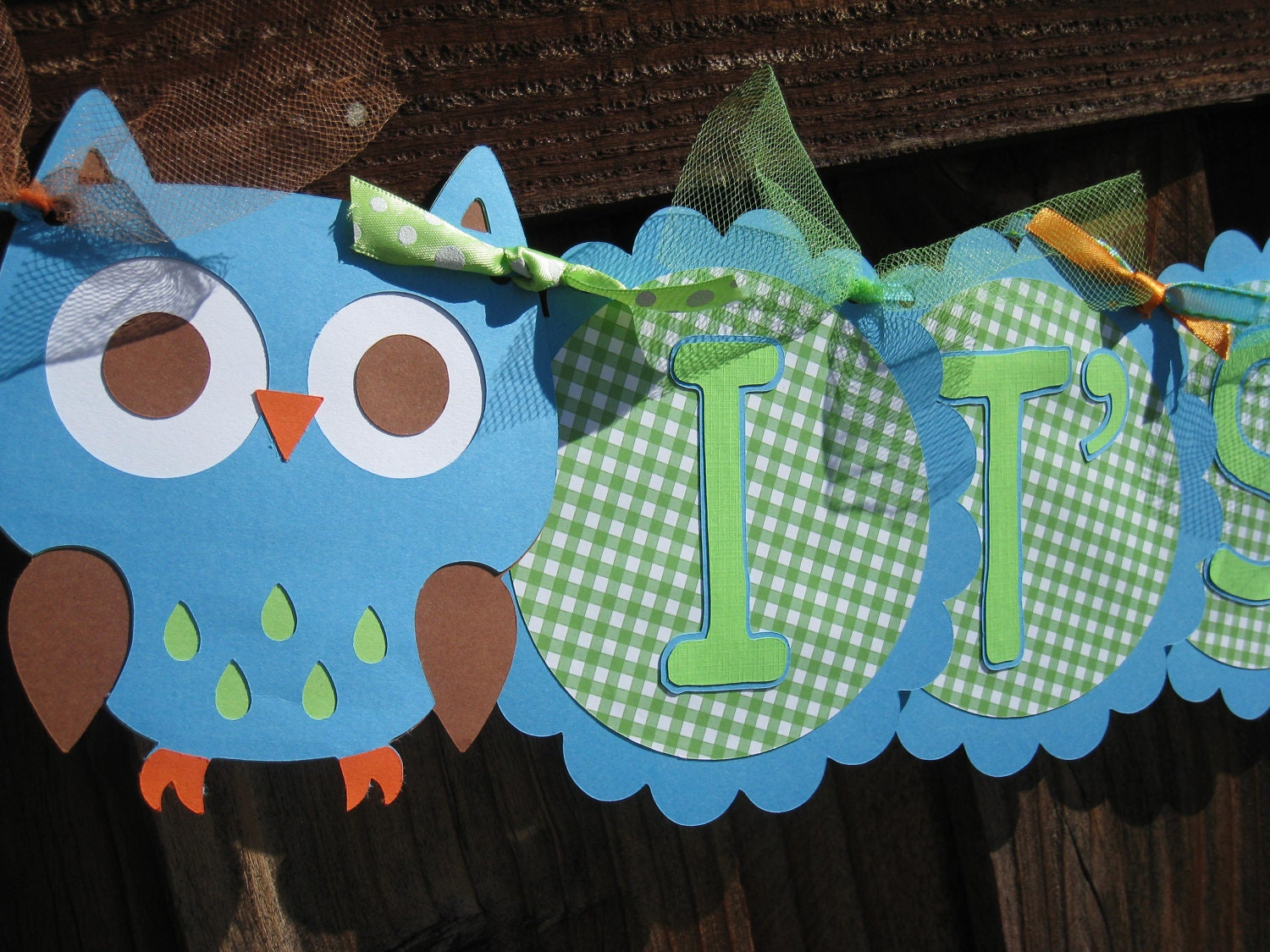 baby shower banner it 39 s a boy owl themed by littlebirdipapershop