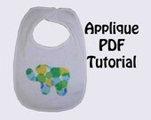 Applique Tutorial with Bonus Applique Design Patterns - INSTANT DOWNLOAD - 25% Off SaLE