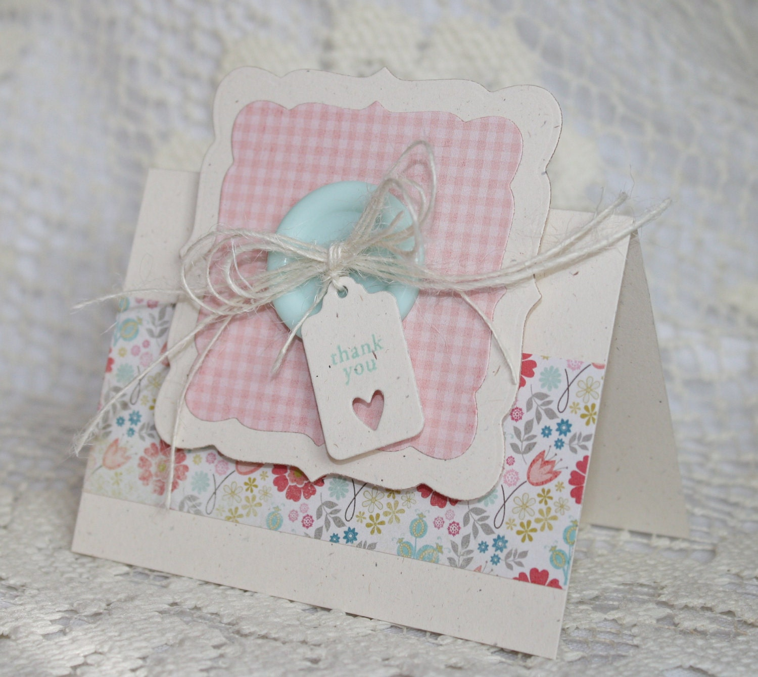 Handmade Thank You Greeting Card by EndlessInkHandmade on Etsy