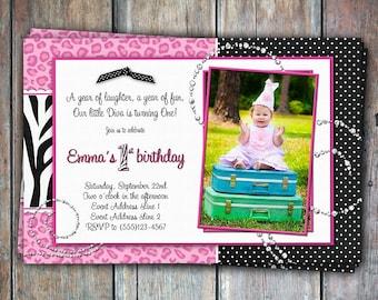 Lil' Diva Birthday Invitation