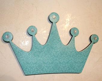 Princess crown wall decor , Turquoise wall decor, Wall decor for girls room, Baby shower gift
