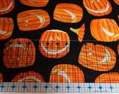 """Halloween Glow in the Dark Michael Miller """"Jacks"""" Fabric"""