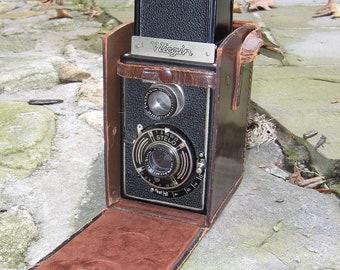 Wirgin German 1940's Reflex Camera and Case