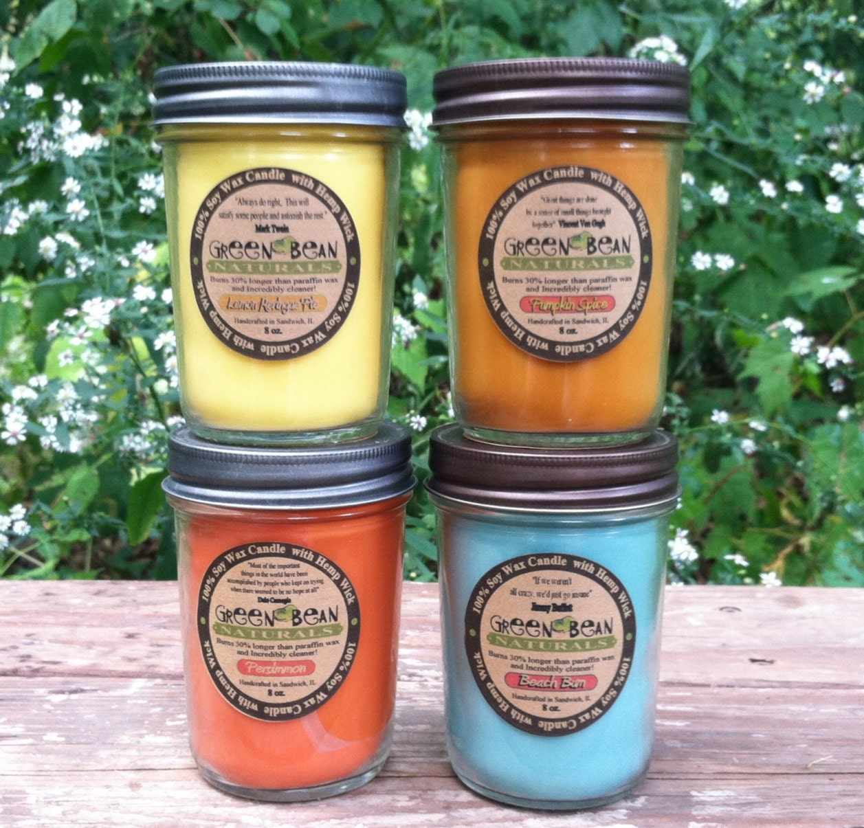 Crackling WOOD WICK 8 oz. Soy Candle you pick by ...