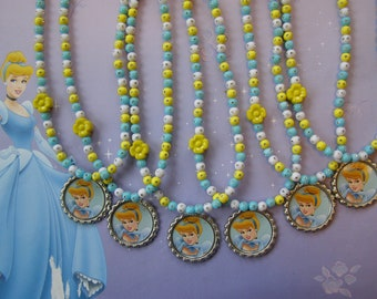 Princess Cinderella Party Favor Stretch Necklaces Of 6