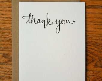 Thank You Hand Lettering card