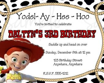 Jessie Toy Story Birthday Invitation
