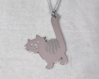 Silver Kittycat Pendant
