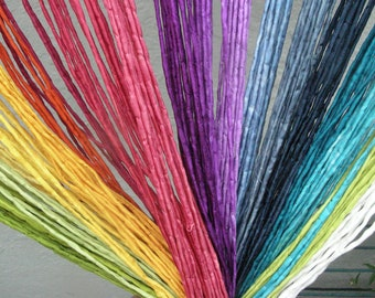 Silk Ribbon, hand coloured, colour choice