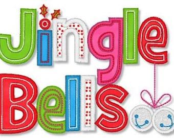 Jingle Bells Design Appliqued on a Children's Shirt
