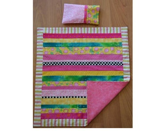 Doll Quilt: Sunflowers