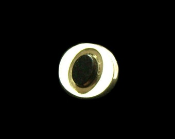 Black Onyx & Gold Tone Tie Tac - Tie Tack