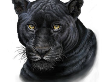 Black Panther Painting-Print